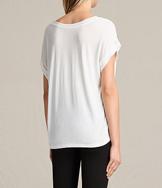 Womens Juba Pina Tee (Chalk White) - product_image_alt_text_4