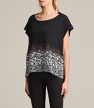 Donne T-shirt Juba Pina (Black) - product_image_alt_text_3