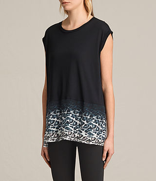 Femmes T-shirt Juba Brooke (Black) - product_image_alt_text_3
