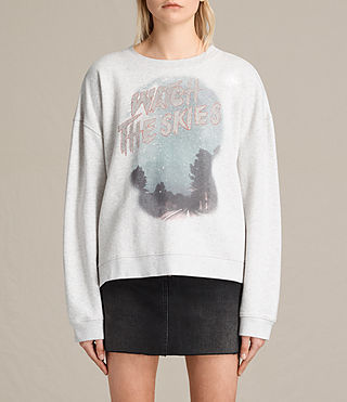 Mujer Skies Lo Sweatshirt (Light Grey Marl)
