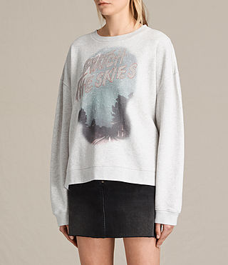 Women's Skies Lo Sweatshirt (Light Grey Marl) - product_image_alt_text_2