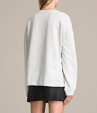 Mujer Skies Lo Sweatshirt (Light Grey Marl) - product_image_alt_text_3