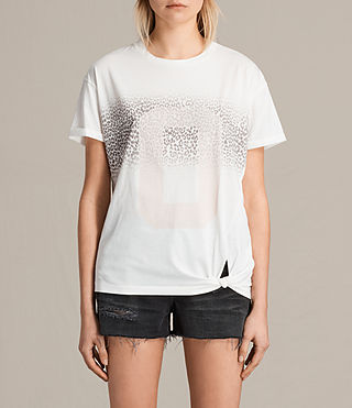 Women's Zeroes Heny Tee (Chalk White) -