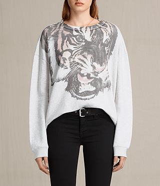 Femmes Sweatshirt Turan Lo (Light Grey Marl)