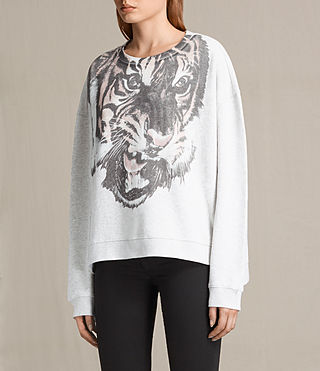 Women's Turan Lo Sweatshirt (Light Grey Marl) - Image 2