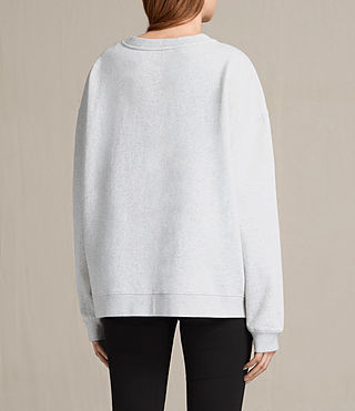 Womens Turan Lo Sweatshirt (Light Grey Marl) - Image 3