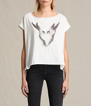 Womens Lovebird Pina Tee (Chalk White)
