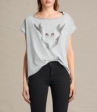 Femmes Lovebird Pina Tee (Light Grey Marl)