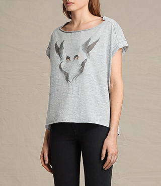 Donne T-shirt Lovebird Pina (Light Grey Marl) - product_image_alt_text_2