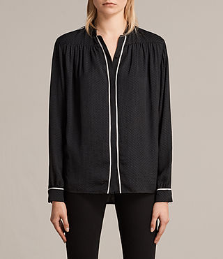 Womens Rica Shirt (Black) - product_image_alt_text_1