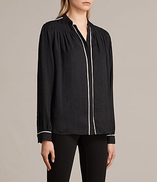 Womens Rica Shirt (Black) - product_image_alt_text_2