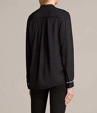 Womens Rica Shirt (Black) - product_image_alt_text_3