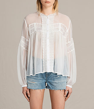 Womens Pinto Shirt (Chalk White) - product_image_alt_text_1