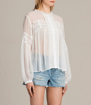 Womens Pinto Shirt (Chalk White) - product_image_alt_text_2