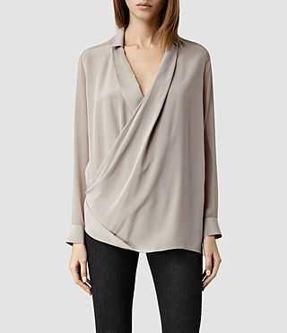 Womens Lucas Shirt (Taupe/Taupe)