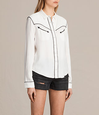 Mujer Camisa Adrienne (Chalk White) - product_image_alt_text_2