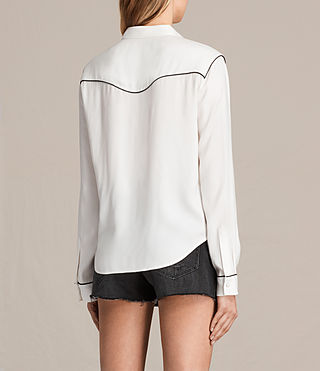 Mujer Camisa Adrienne (Chalk White) - product_image_alt_text_3