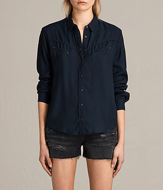 Womens Adrienne Shirt (MYSTIC BLUE) - product_image_alt_text_1
