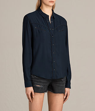Womens Adrienne Shirt (MYSTIC BLUE) - product_image_alt_text_2