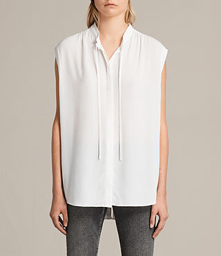 Womens Raya Shirt (Chalk White) - product_image_alt_text_1