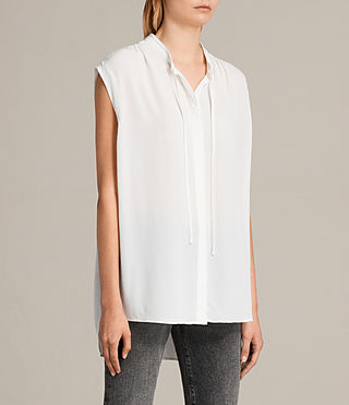Womens Raya Shirt (Chalk White) - product_image_alt_text_3
