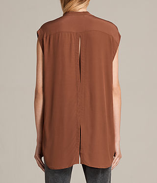 Women's Raya Shirt (TERRACOTTA ORANGE) - Image 3