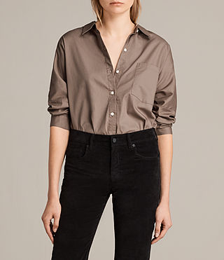 Womens Valdes Shirt (Khaki Green) - Image 1
