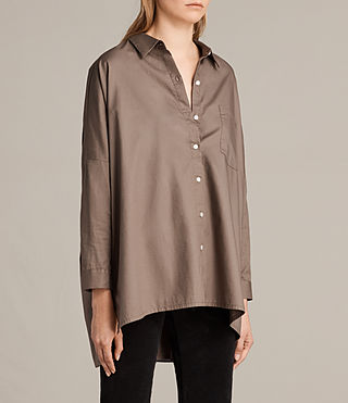 Womens Valdes Shirt (Khaki Green) - Image 2