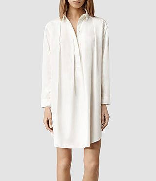 Womens Lana Shirt Dress (Optic)