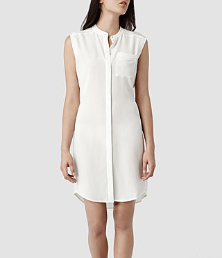 Womens Luna Shirt Dress (Chalk)