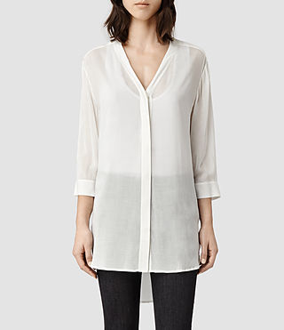 Womens Iris Shirt (Chalk)