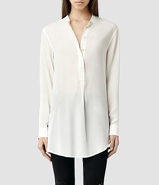 Womens Elise Shirt (Chalk/Chalk)