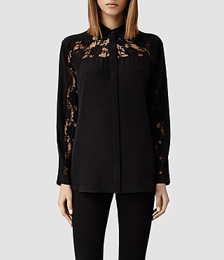 Womens Boo Lace Shirt (Black)
