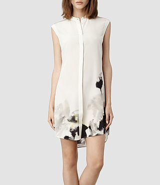 Womens Luna Aura Shirt Dress (Chalk)