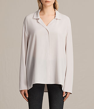 Womens Via Silk Shirt (CHAMPAGNE PINK) - product_image_alt_text_1