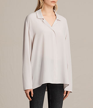 Womens Via Silk Shirt (CHAMPAGNE PINK) - product_image_alt_text_2