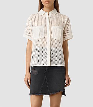 Damen Elsa Shirt (Chalk White)