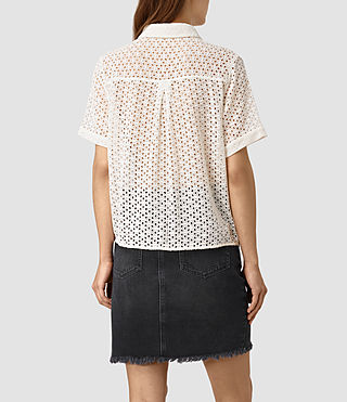 Womens Elsa Shirt (Chalk White) - product_image_alt_text_3