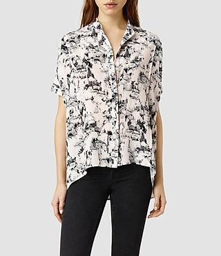 Womens Fleet Dazzle Shirt (Opal)