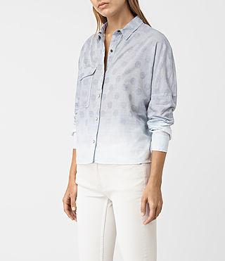 Mujer Bella Jacquard Shirt (LIGHT INDIGO BLUE) - product_image_alt_text_2
