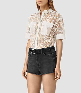 Damen Cariad Embroidered Shirt (Chalk White) - product_image_alt_text_3