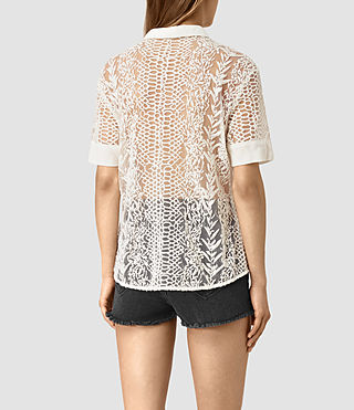 Damen Cariad Embroidered Shirt (Chalk White) - product_image_alt_text_4
