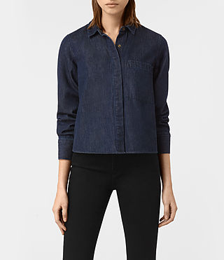 Womens Biella Shirt (Indigo Blue)