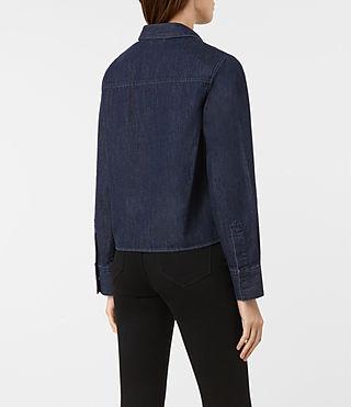 Femmes Biella Shirt (Indigo Blue) - product_image_alt_text_3