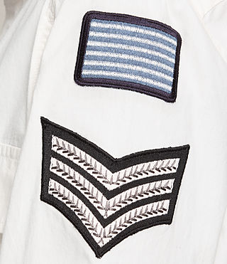 Mujer Patch Military Shirt (OYSTER WHITE) - product_image_alt_text_2