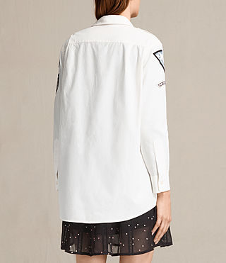 Mujer Patch Military Shirt (OYSTER WHITE) - product_image_alt_text_7