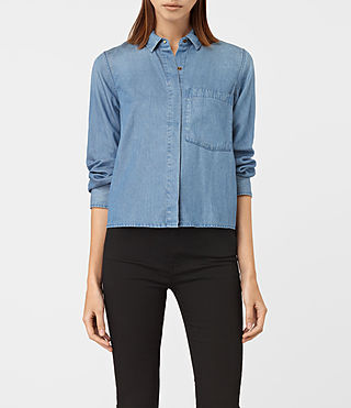 Damen Biella Shirt (LIGHT INDIGO BLUE)