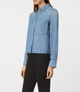Damen Biella Shirt (LIGHT INDIGO BLUE) - product_image_alt_text_2