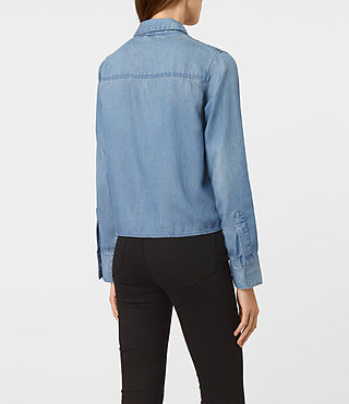 Damen Biella Shirt (LIGHT INDIGO BLUE) - product_image_alt_text_3