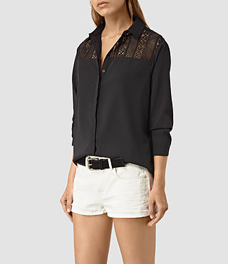 Womens Lili Carel Shirt (Black)